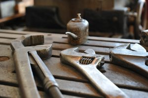 Workshop Tools on Bench