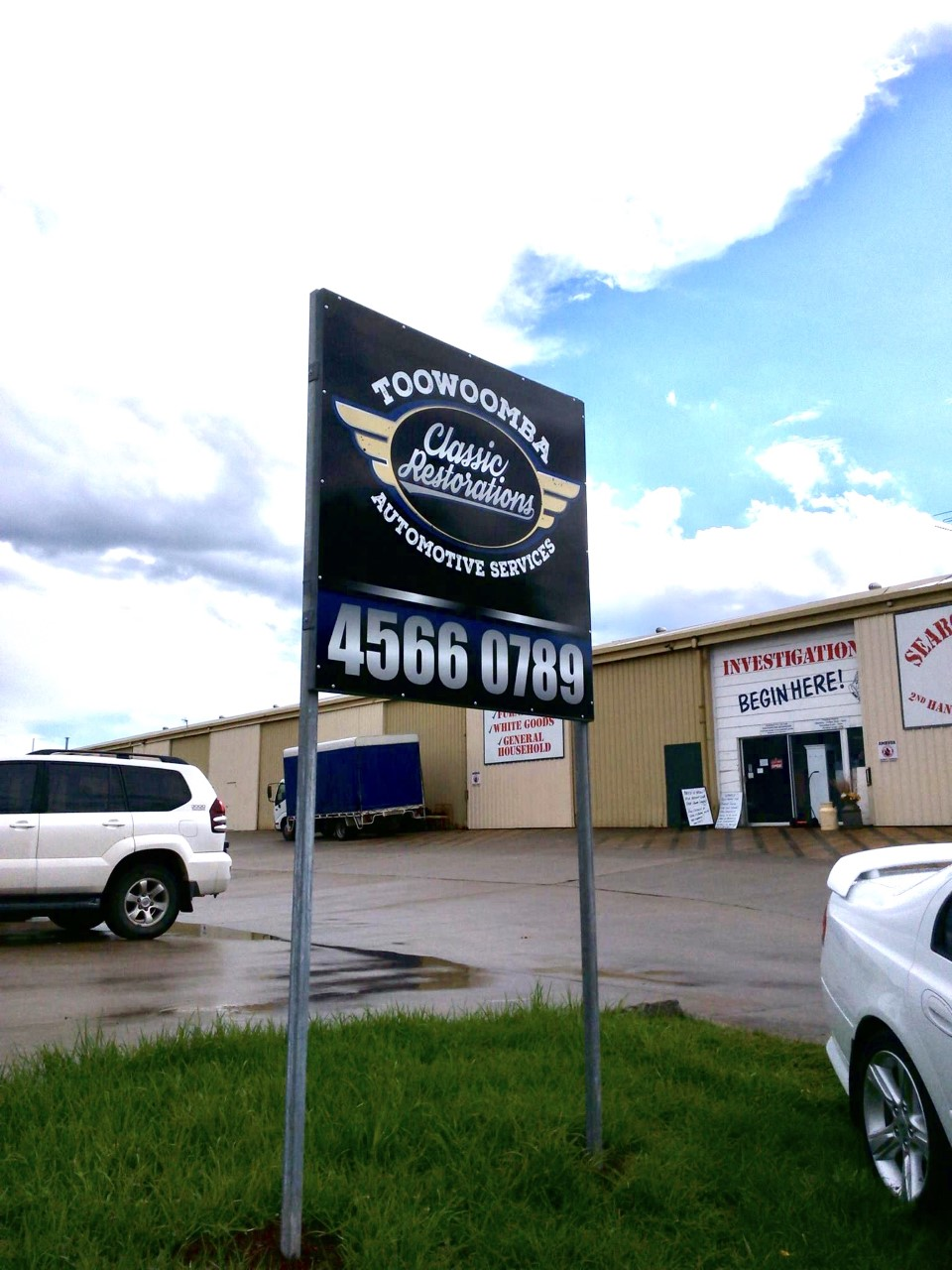 Toowoomba Automotive Services Entrance Sign